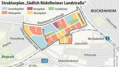 Der Strukturplan für das Siemens-Areal in Frankfurt-Bockenheim.