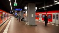 Blick in die U-Bahn-Station Taunusanlage in Frankfurt