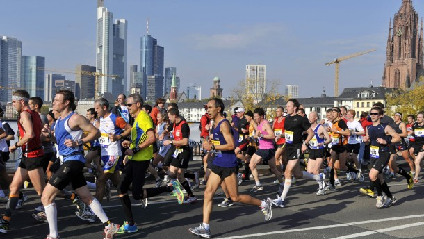 Ansturm auf Frankfurter Jubiläums-Marathon