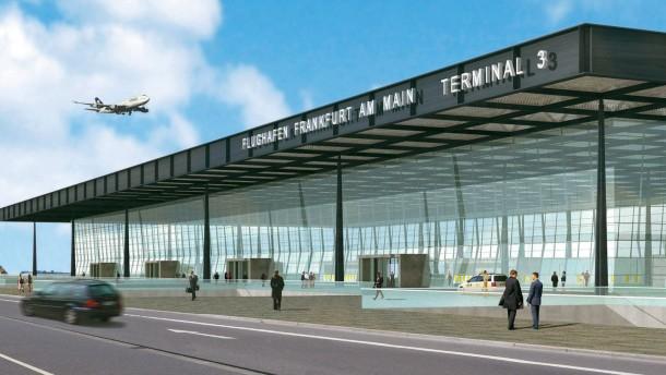 Vorlaeufiger Baustopp des Terminals 3 am Frankfurter Flughafen