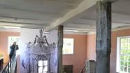 Erbe: Innenraum der Kirche aus Kohlgrund im Hessenpark bei Neu-Anspach