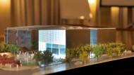 Höchst umstritten: geplantes Wiesbadener Stadtmuseum - hier im Modell