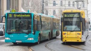 Behinderungen im Tramverkehr