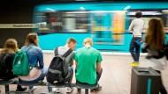 Schnelles Surfen in der Frankfurter U-Bahn