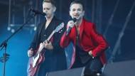 Sakkoträger: Dave Gahan, Sänger von Depeche Mode, und der Gitarrist der Band, Martin Gore