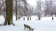 Frisch geweißt: der Kurpark in Bad Homburg