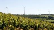 HSE-Projekt: Windräder auf dem Binselberg, von Groß-Umstadt aus gesehen