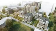 Westerbach-Höfe: Zwischen den acht Wohnhäusern soll Zierobst gepflanzt werden.