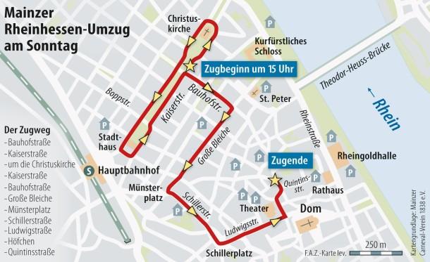 Bilderstrecke zu Festtag in Mainz Der Kurs des RheinhessenUmzugs