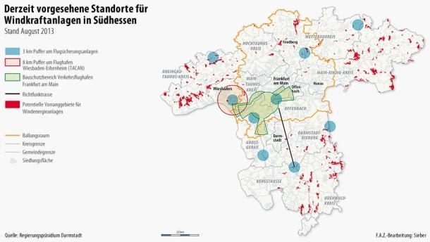 Region Südhessen präsentiert Flächen für Windräder