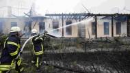 Millionenschaden nach Großbrand auf Fliegerhorst Erlensee