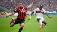 Nach vorne hui, nach hinten pfui:Timothy Chandler, der Rechtsverteidiger der Eintracht, zeigt in vielen Bundesligaspielen zwei Gesichter.