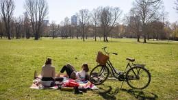 Auch kein Sonnenbaden in den Parks mehr?