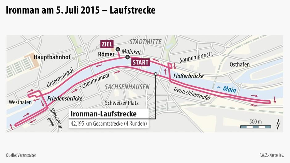 Laufstrecke Frankfurt