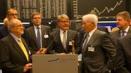 Feierstunde: Börse-Chef Weimer (Mitte) im Handelssaal anlässlich 30 Jahre Dax