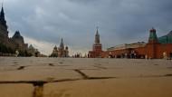Der Rote Platz in Moskau. Rechts ist der Kreml, die Machtzentrale von Putins Russland, zu sehen.