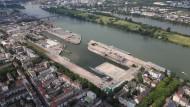 Zuwachs: Für neue Wohnungen am Zollhafen in Mainz werden zum Teil mehr als 6000 Euro je Quadratmeter verlangt