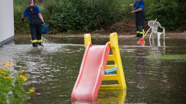 Seeheim-Jugenheim überschwemmt