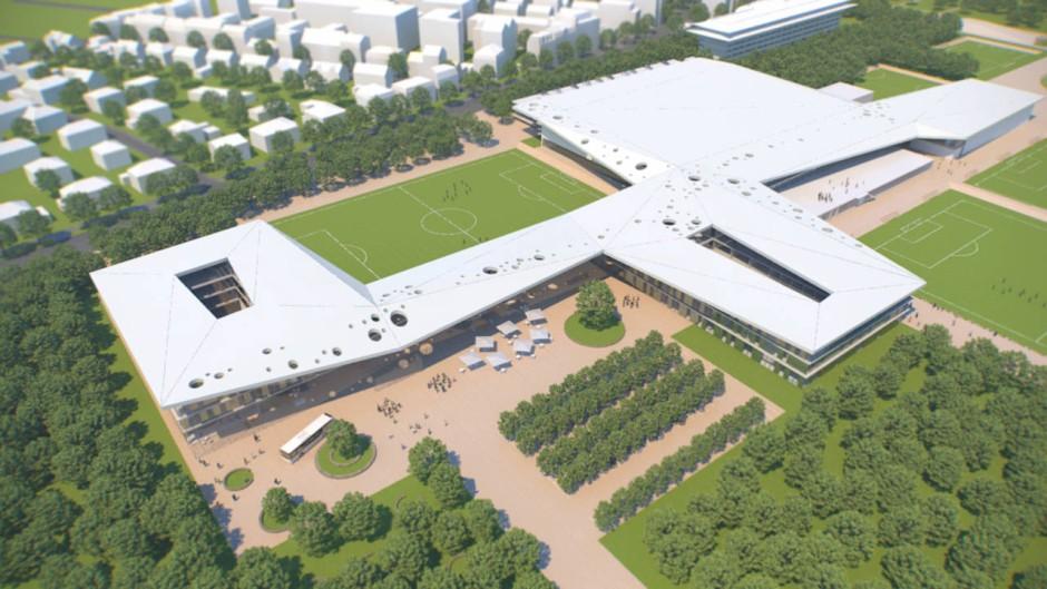 Oder DFB-Leistungszentrum? Entwurf eines Aachener Architekturbüros für die künftige DFB-Akademie