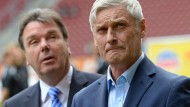 Mehr als eine Idee: Bruchhagen hat Veh 2014 verabschiedet, womöglich begrüßt er ihn bald wieder bei der Eintracht.