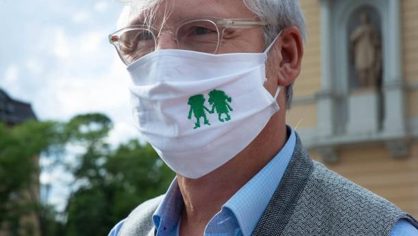 """""""Infizierte Grüße"""" an Darmstadts Bürgermeister"""