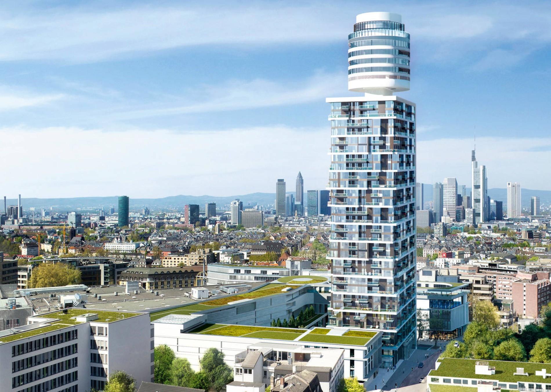 Gehobene Küche im Henninger-Turm in Frankfurt