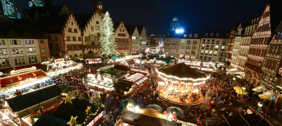 Weihnachtsmarkt Frankfurt Main.Frankfurter Weihnachtsmarkt Eröffnet Glühweinduft Und Friedensklänge