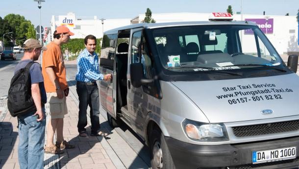 Mit Taxi für zwei Euro zur Haustüre