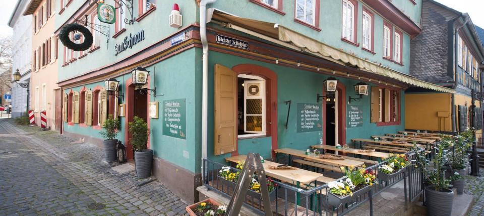 lokal zum schwan in frankfurt wieder gr ne so e. Black Bedroom Furniture Sets. Home Design Ideas