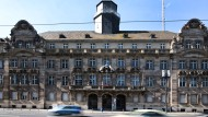 Leerstand seit mehr als einem Jahrzehnt: das alte Frankfurter Polizeipräsidium zwischen Messe und Hauptbahnhof.