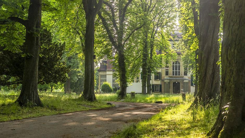 Sindlinger Idylle: Blick durch den Park auf die seit Ende vergangenen Jahres leerstehende Villa Meister.