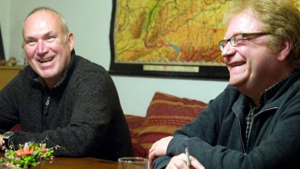 Achim Greser und Heribert Lenz - Das Aschaffenburger Karikaturistenduo im Gespräch mit Werner D'Inka und Peter Lückemeier für die Serie Gesprächsstoff.