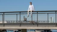 Fühlt sich im Offenbacher Hafen wohl: Oskar Offermann in seiner Wahlheimat
