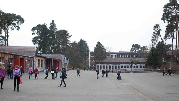 Ein weiträumiger Campus im Wald