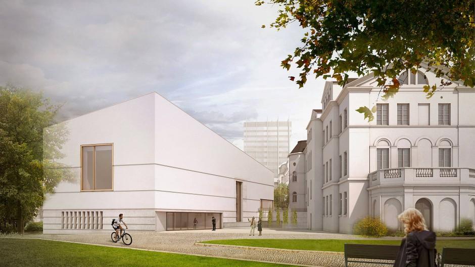Sanierung und Erweiterung: Eine Computer-Darstellung zeigt das neue Jüdische Museum.