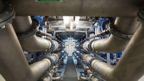 Wasserversorgung - Im Wasserwerk der Mainova in Frankfurt wird das Wasser der Region aufbereitet.