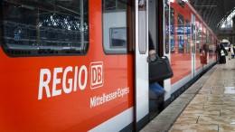 Beschädigte Oberleitung bremst Zugverkehr aus