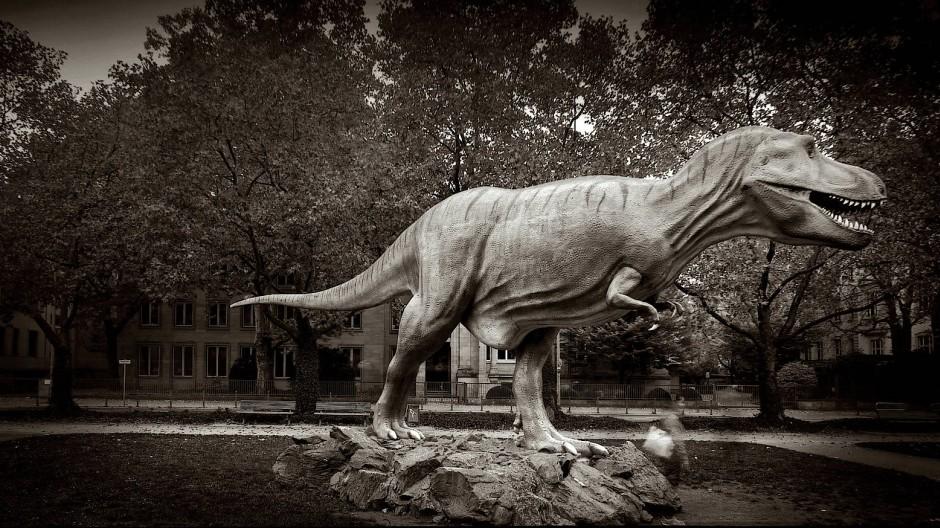 Der Tyrannosaurus rex an der Senckenberganlage