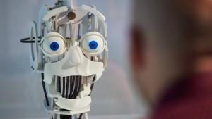 Wenn der Roboter den Schlips auswählt