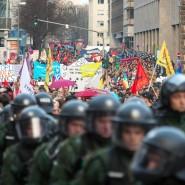 Protestzug: Der Landtag will die Ereignisse rund um Blockupy in Frankfurt aufarbeiten.