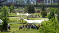 Ein neuer Park am Main