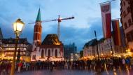 Frankfurt will lesen: Warteschlange vor dem Römer