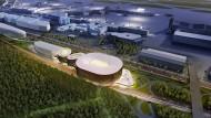 So soll das geplante Megaprojekt für den Frankfurter Flughafen aussehen.