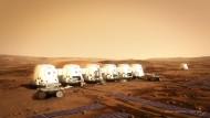 Eher zweckmäßig: So soll die Kolonie auf dem Mars einmal aussehen.