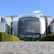 Knapp ein Prozent: Dem Fresenius-Konzern, hier die Zentrale in Bad Homburg, kann man Geld leihen, das etwas höher verzinst wird als bei den meisten Banken.