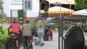 Radler gegen Fußgänger