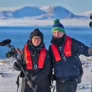 Eingepackt: Die Filmemacher Silke Schranz und Christian Wüstenberg in der Arktis