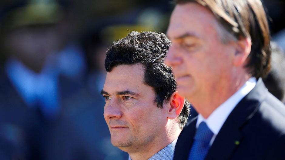 Seite an Seite: Moro und Bolsonaro