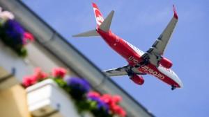 Flugverfahren zur Lärmreduzierung werden getestet
