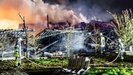 Solaranlage offenbar kaputt: Lagerhalle brennt ab
